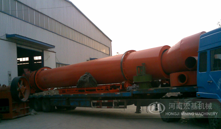 河南宏基烘干机设备发往贵阳建材公司