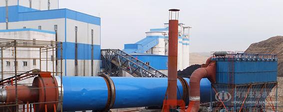 u乐国际娱乐老虎机为河北沧州客户生产的煤泥烘干机