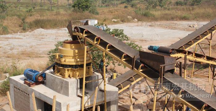 马来西亚时产150吨石灰石制砂生产线
